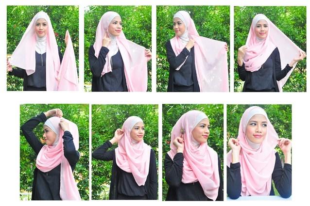 بالصور كيفية استعمال الخمار , اريد طرق جديدة للف الحجاب 13470 11