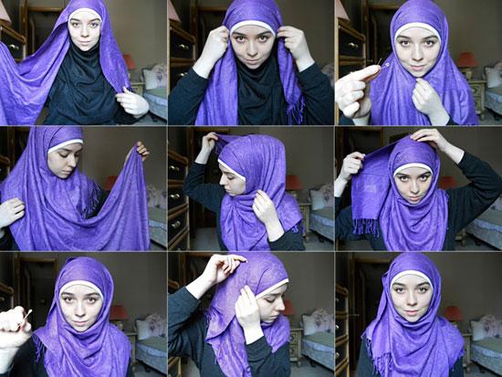 بالصور كيفية استعمال الخمار , اريد طرق جديدة للف الحجاب 13470 2