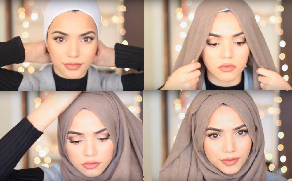 بالصور كيفية استعمال الخمار , اريد طرق جديدة للف الحجاب 13470 3