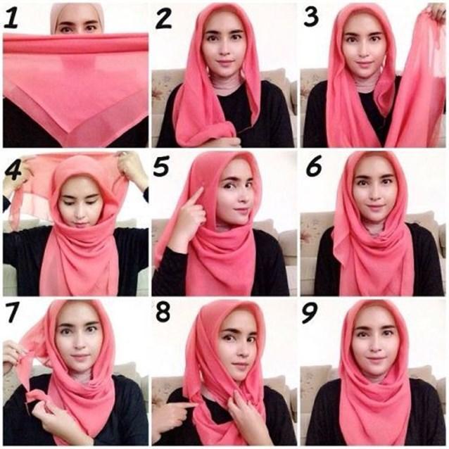 بالصور كيفية استعمال الخمار , اريد طرق جديدة للف الحجاب 13470 4