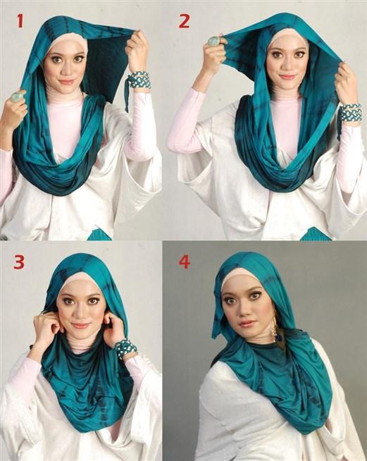 بالصور كيفية استعمال الخمار , اريد طرق جديدة للف الحجاب 13470 5