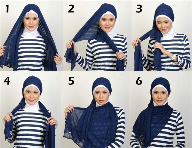 بالصور كيفية استعمال الخمار , اريد طرق جديدة للف الحجاب 13470 7