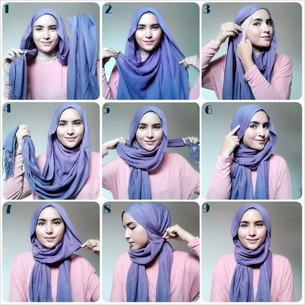بالصور كيفية استعمال الخمار , اريد طرق جديدة للف الحجاب 13470 8