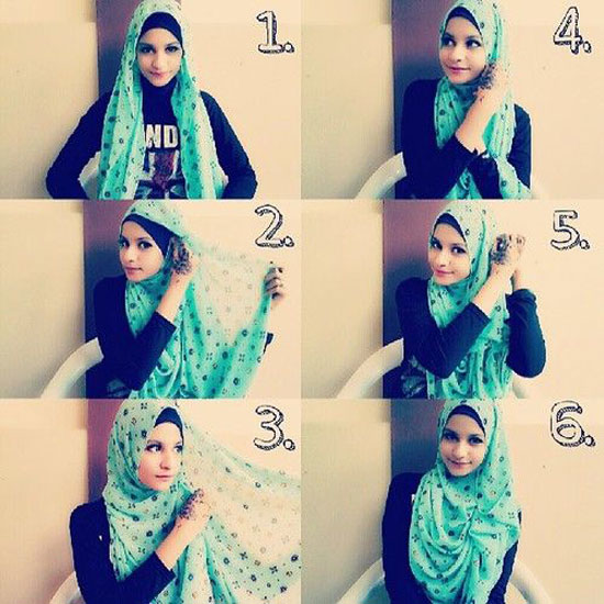 صورة كيفية استعمال الخمار , اريد طرق جديدة للف الحجاب