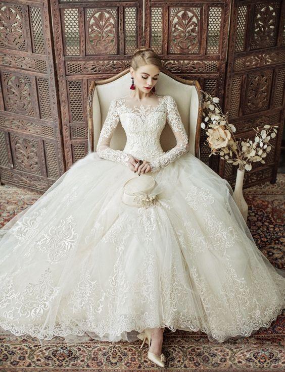 بالصور صور فساتين عروس , اختارى فستان الزفاف الاقرب لقلبك وشخصيتك 1349 4