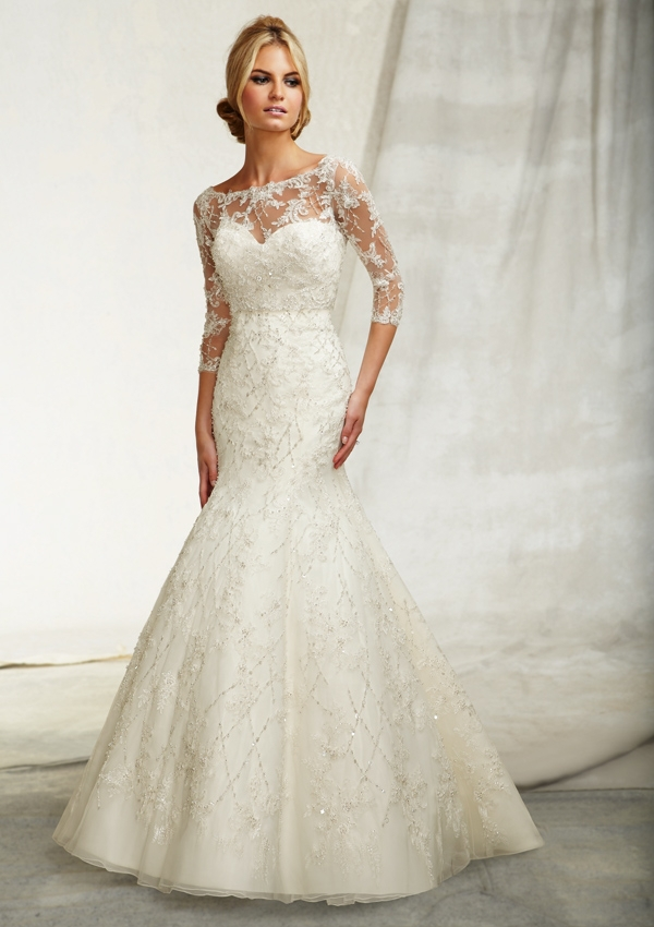 بالصور صور فساتين عروس , اختارى فستان الزفاف الاقرب لقلبك وشخصيتك 1349 6