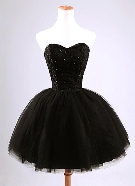 صورة فساتين قصيره سودا , احلى الفساتين المميزة