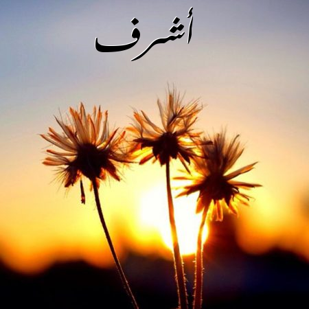 صور صور اسم اشرف , اسم قديم ولكنه جميل