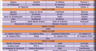 صور جميع ترددات عرب سات , احدث ترددات عرب سات