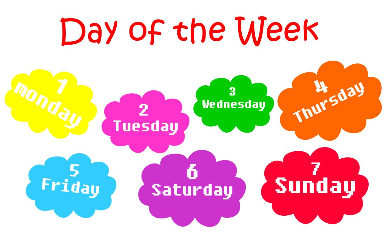 أيام الأسبوع بالعربي pdf