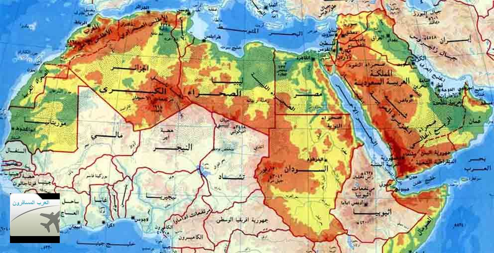 بالصور خريطة العالم الطبيعية بالعربى , اجمل الخرائط الطبيعية 13601 1