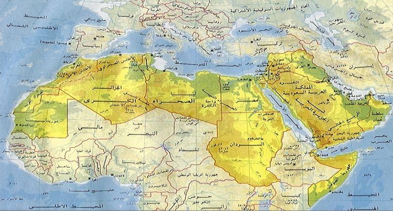 بالصور خريطة العالم الطبيعية بالعربى , اجمل الخرائط الطبيعية 13601 10
