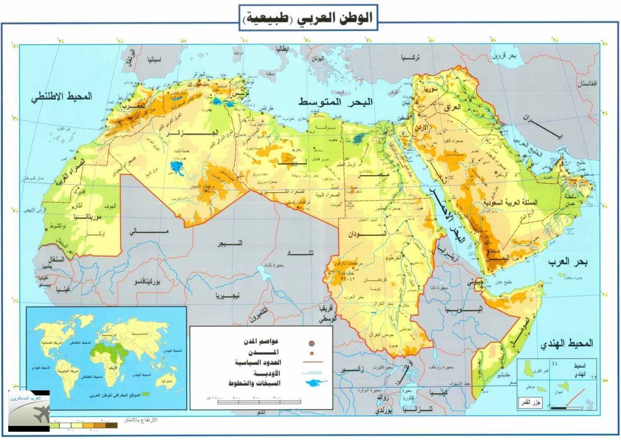 بالصور خريطة العالم الطبيعية بالعربى , اجمل الخرائط الطبيعية 13601