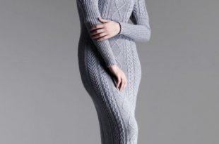 صورة اجمل فساتين شتوية , اجدد موديلات الملابس الشتوية