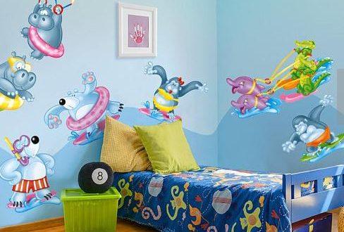 بالصور رسومات جدران للاطفال , حوائط كرتون للاطفال 13754 1