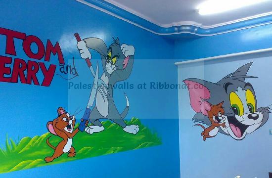بالصور رسومات جدران للاطفال , حوائط كرتون للاطفال 13754 3