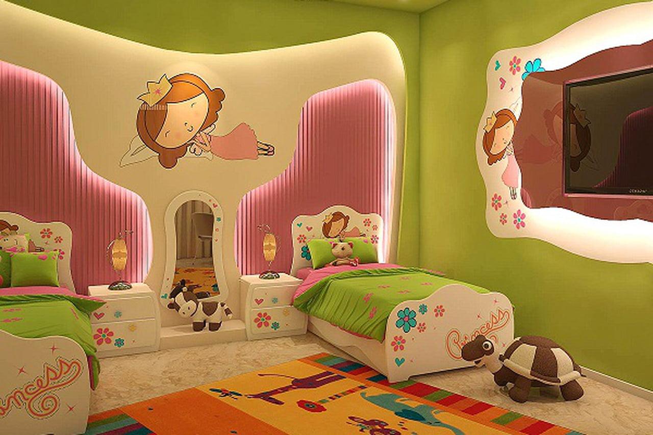 بالصور رسومات جدران للاطفال , حوائط كرتون للاطفال 13754 4