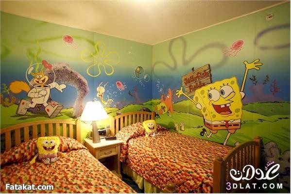 بالصور رسومات جدران للاطفال , حوائط كرتون للاطفال 13754 6
