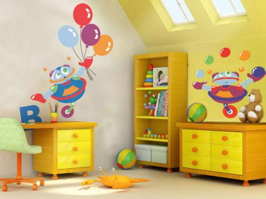 بالصور رسومات جدران للاطفال , حوائط كرتون للاطفال 13754 9