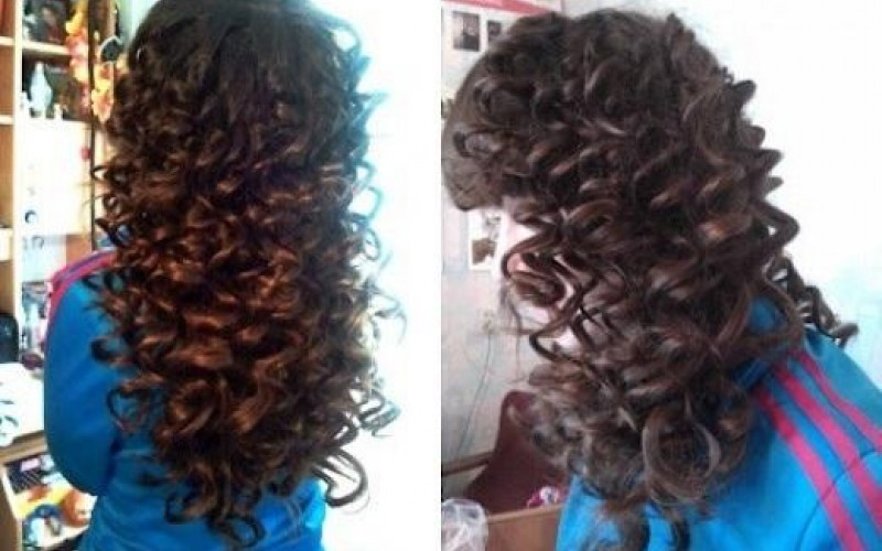 بالصور لف الشعر بالقصدير , كيف اجعل شعرى مموج 13842 1