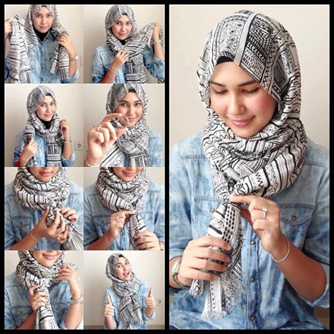 بالصور طرق لف الحجاب , اجمل لفات طرح عصرية وسريعة بالخطوات المصورة 1398 1
