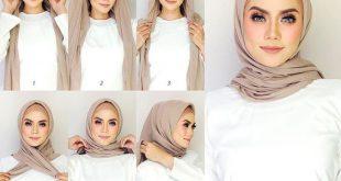 صور طرق لف الحجاب , اجمل لفات طرح عصرية وسريعة بالخطوات المصورة