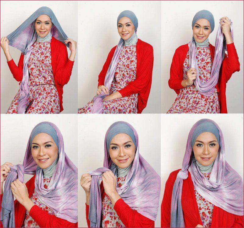 بالصور طرق لف الحجاب , اجمل لفات طرح عصرية وسريعة بالخطوات المصورة 1398 3