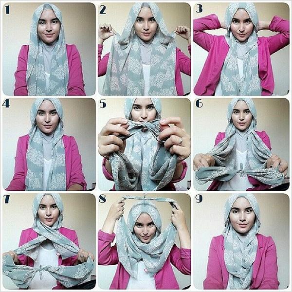 بالصور طرق لف الحجاب , اجمل لفات طرح عصرية وسريعة بالخطوات المصورة 1398 4