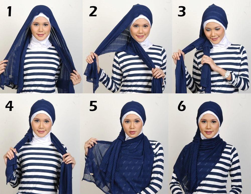 بالصور طرق لف الحجاب , اجمل لفات طرح عصرية وسريعة بالخطوات المصورة 1398 8