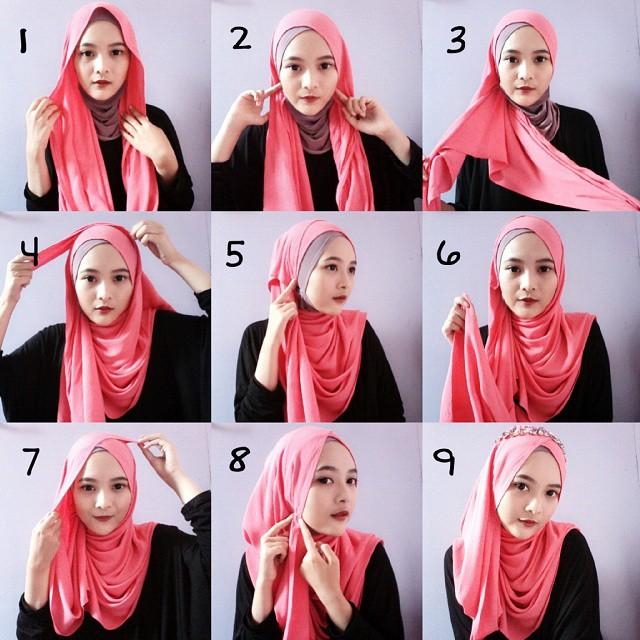 بالصور طرق لف الحجاب , اجمل لفات طرح عصرية وسريعة بالخطوات المصورة 1398 9