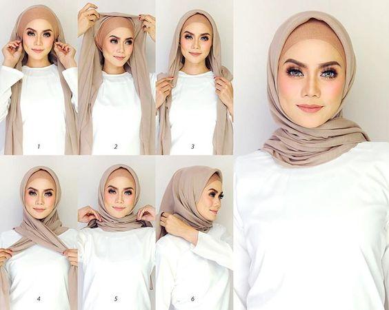 صورة طرق لف الحجاب , اجمل لفات طرح عصرية وسريعة بالخطوات المصورة