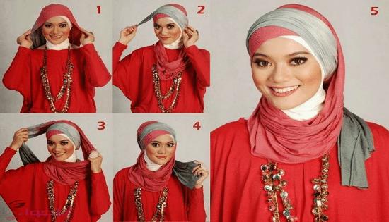بالصور طرق لف الحجاب , اجمل لفات طرح عصرية وسريعة بالخطوات المصورة 1398