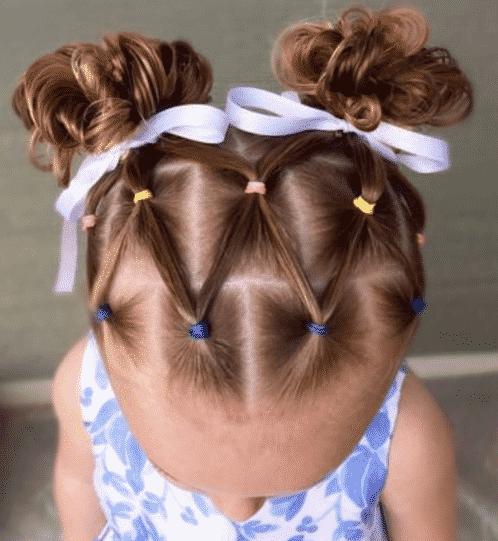 صور تسريحات شعر للمدرسة سهلة وسريعة بالخطوات , احدث قصات الشعر لطفلتك